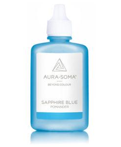 aura-soma safírový pomander