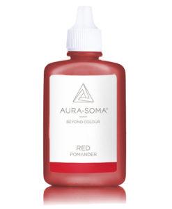 aura-soma červený pomander