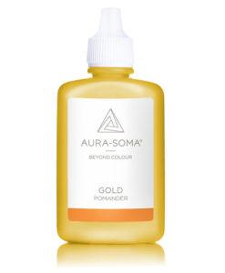 aura-soma zlatý pomander
