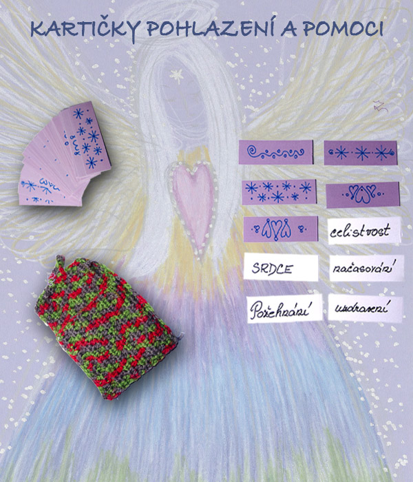 kartičky pohlazení a pomoci